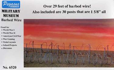 28mm Miniature Terrain: Barbed Wire