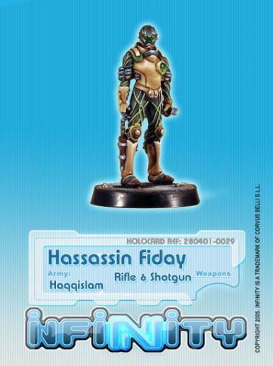 Infinity (#029) Hassassin Fiday (Rifle, Light Shotgun)