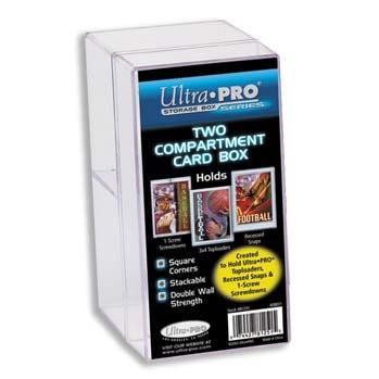 Two Compartment Clear Card Box
