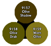 Master Series Paints: Olive Drab Triad