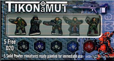 eM4 Miniatures: Glory Seekers - Mercenaries Miniatures Set (5) Hand Painted!