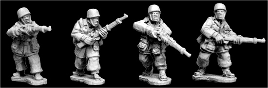Artizan Designs WWII 28mm: Fallschirmjager Rifles (4)