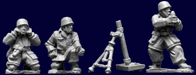 WWII 28mm: Fallschirmjager Mortar Team (4)
