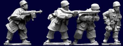 Artizan Designs WWII 28mm: Fallschirmjager Assault Team (4)