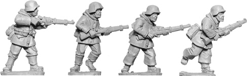 WWII 28mm: Late War German Rifles 1 (Winter) (4)