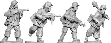 WWII 28mm: Late War German MP40s (Winter) (4)