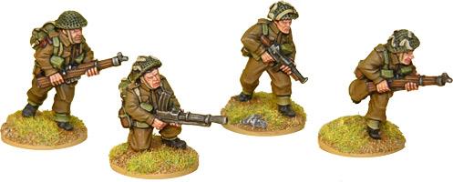 Artizan Designs WWII 28mm: British Commando Bren Teams (4)