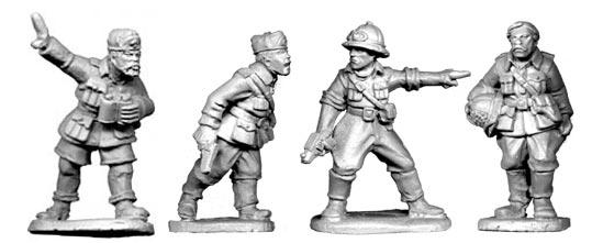 Artizan Designs WWII 28mm: Italian Command (4)