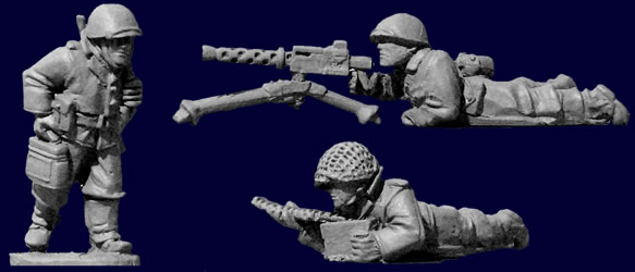 Artizan Designs WWII 28mm: U.S. Infantry 30 Cal. Team (1 & crew)