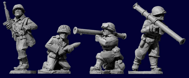 Artizan Designs WWII 28mm: U.S. Infantry Bazooka Team (4)
