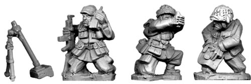 28mm WWII: (USA) Airborne 60mm Mortar (3)