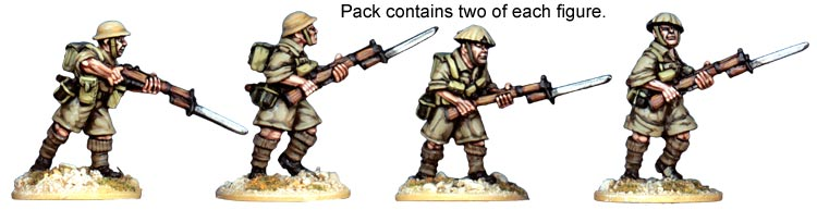 Artizan Designs WWII 28mm: British 8th Army Riflemen (4)