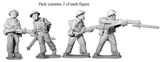 Artizan Designs WWII 28mm: British 8th Army Riflemen II (4)