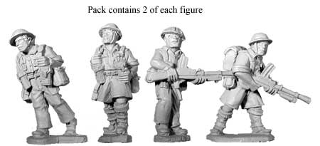 Artizan Designs WWII 28mm: British 8th Army Bren Teams (4)
