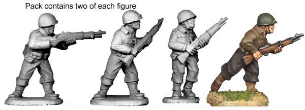 Artizan Designs WWII 28mm: U.S. Riflemen I (4)