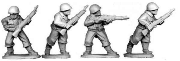 Artizan Designs WWII 28mm: U.S. Riflemen II  (4)