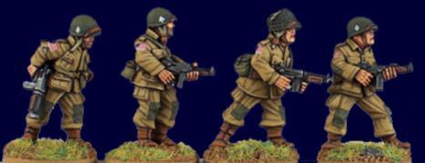 Artizan Designs WWII 28mm: U.S. Airborne S.M.G.s (4)