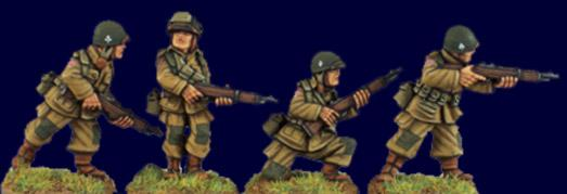 Artizan Designs WWII 28mm: US Airborne Riflemen II (4)