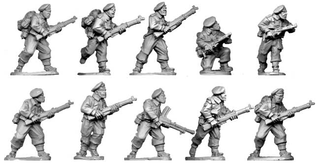WWII 28mm: Commando Section 1944 (10)