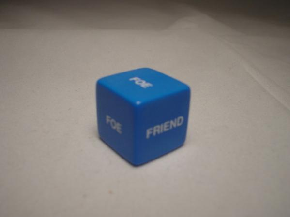 Friend or Foe d6 (1) Assorted Colors