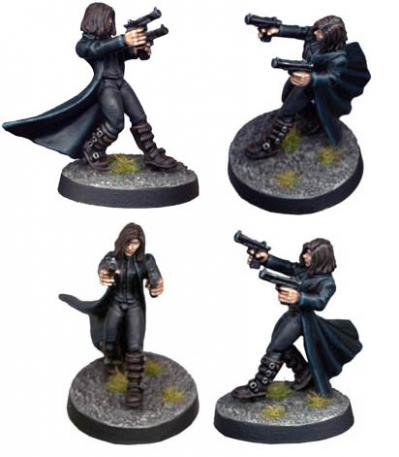 28mm Modern: Girl Werewolf-Hunter