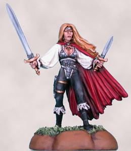 Glenraven, Female Rogue w/Sword & Dagger