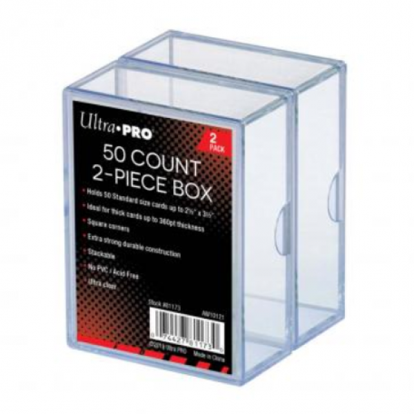 Ultra-Pro: 2-Piece Clear Card Storage Box (2-Pack) (each box holds 50)