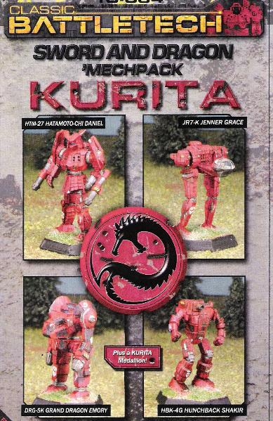BattleTech Miniatures: Kurita Sword & Dragon Mech Pack II