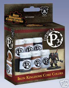 Warmachine Paints: Formula P3 - Iron Kingdoms Colors Box Set