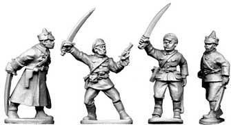 28mm Historical: Bolshevik Officers