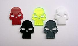 Casualty Markers: Transparent Gray Skull Tokens (10)