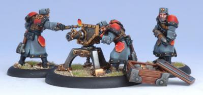 Warmachine: (Khador) Winter Guard Field Gun Crew (4)