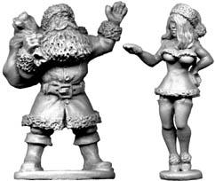 28mm Historical: Father Christmas (and Lovely Assistant)