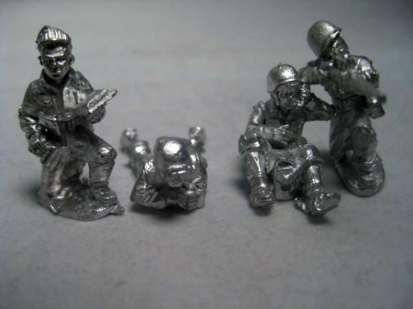 28mm WWII: (USA) Sniper & Spotters (4)