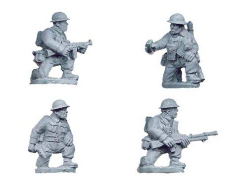 Crusader Miniatures: British Infantry Command & Bren Team kneeling (4)