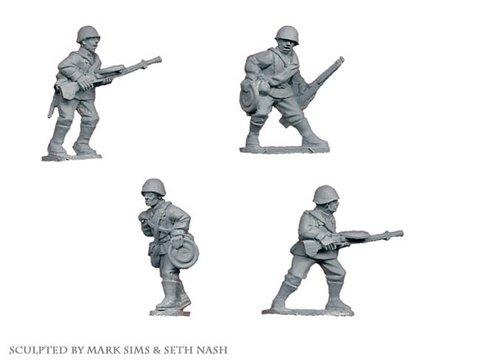 Crusader Miniatures: Russian LMG Teams (4)