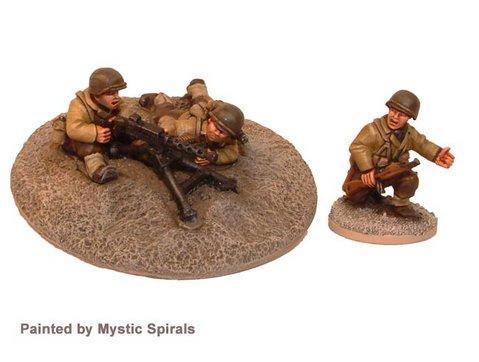 Crusader Miniatures: US .30Cal MMG & Crew (1MMG, 3 crew)