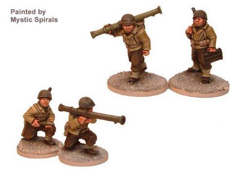 Crusader Miniatures: US Bazooka Teams (4)