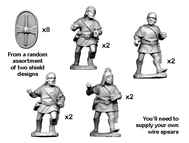 Crusader Miniatures - Ancients: Spanish Scutari with spear - charging (8)