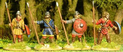 Artizan Designs Carolingians: Carolingian Unarmoured Spearmen Standing (4)