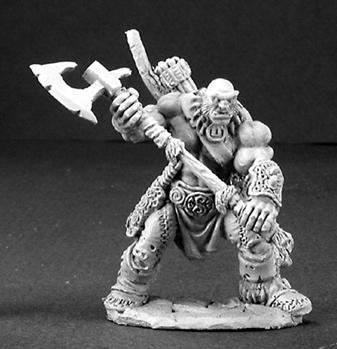 Dark Heaven Legends: Thelgar Halfblood Half Orc Barbarian
