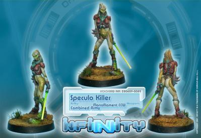 Infinity (#089) Combined Army Speculo Killer (Monofilament CCW, Combi Rifle)