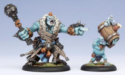 (Trollbloods) Warlock Borka Kegslayer & Pyg Keg Carrier