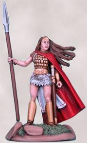 Dangerous Journey Noble Female Fighter w/Spear
