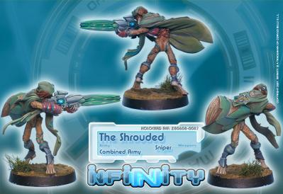 Infinity (#087) Combined Army The Shrouded (Sniper)