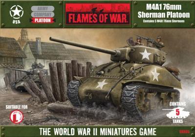 Flames Of War (WWII): (USA) M4A1/76 Sherman Platoon