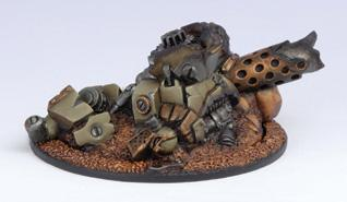 Warmachine: Mercenary Heavy Warjack Wreck Marker