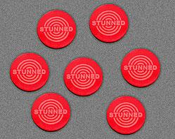 Stunned Tokens - Red (Set of 7)