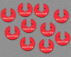 Routed Tokens - Red (Set of 10)