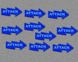 Attack Tokens - Blue (Set of 10)